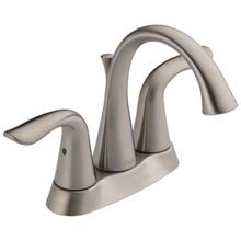 Stainless Two Handle Tract-Pack Centerset Bathroom Faucet