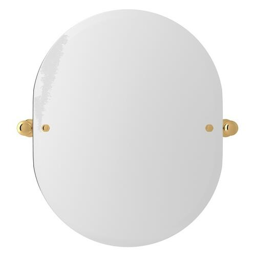 "English Gold Perrin & Rowe Wall Mount 24 7/16"" Oval Mirror"