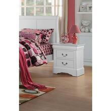 WHITE L.P III NIGHTSTAND