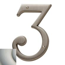 View Product - Satin Nickel with Lifetime Finish House Number - 3