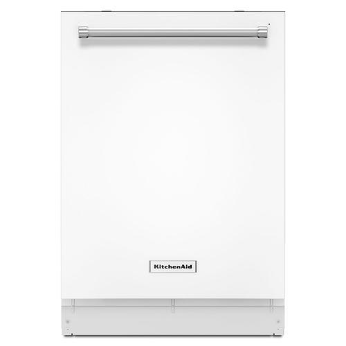 KitchenAid - 44 dBA Dishwasher with Dynamic Wash Arms White