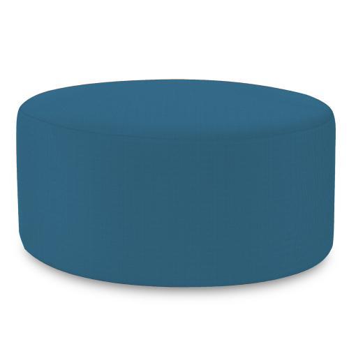 Universal Round Ottoman Seascape Turquoise