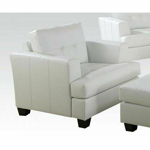 ACME Platinum Chair - 15097B - White Bonded Leather