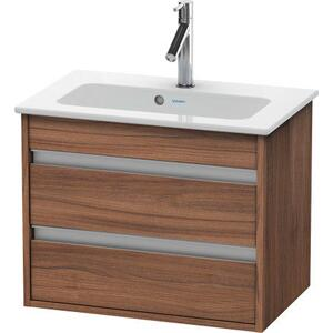 Vanity Unit Wall-mounted Compact, Natural Walnut (decor)