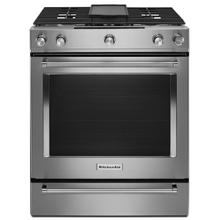 30-Inch 5-Burner Dual Fuel Convection Slide-In Range with Baking Drawer Stainless Steel