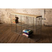 See Details - eight cubby console with wooden top