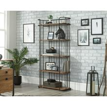 Tall Industrial 5-Shelf Bookcase