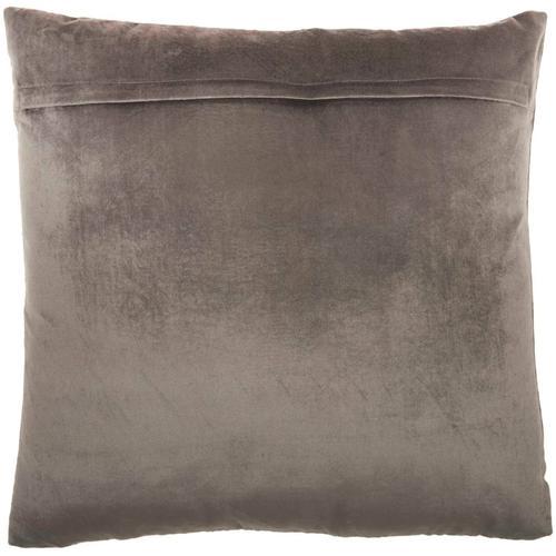 "Sofia Az217 Dark Grey 20"" X 20"" Throw Pillow"
