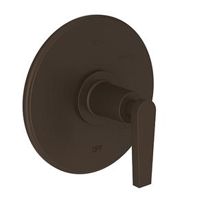 Weathered Copper - Living Balanced Pressure Shower Trim Plate with Handle. Less showerhead, arm and flange.