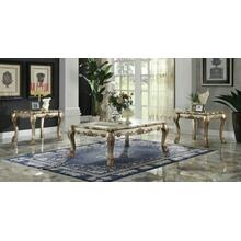 ACME Dresden Coffee Table - 83160 - Gold Patina & Bone