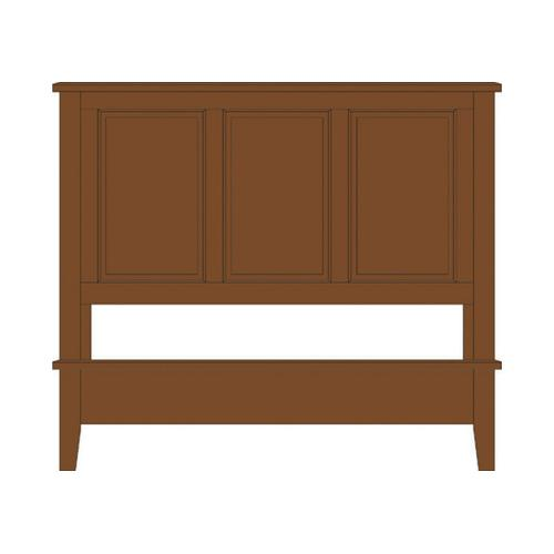 Vaughan-Bassett - King Panel Bed with Panel Footboard