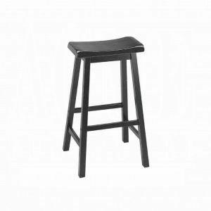 "ACME Gaucho Bar Stool (Set-2) - 07308 - Black - 29"" Seat Height"