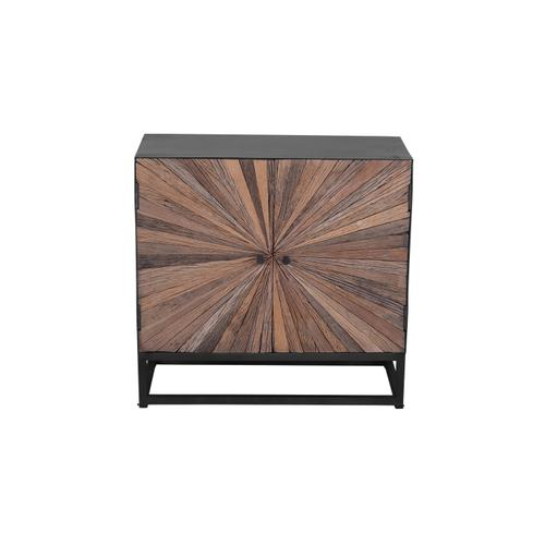 Astral Plains Reclaimed 2 Door Accent Cabinet-natural
