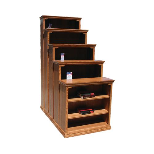 "Traditional Oak 36"" Standard Bookcase"