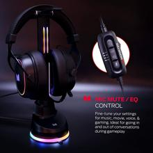 See Details - Monster Alpha 7.1 RGB Illuminated Gaming Headset with 7.1 Surround Sound, Noise-Cancelling Detachable Mic, Cushioned Earcups - for PC Gaming