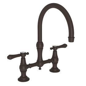 Oil Rubbed Bronze Kitchen Bridge Faucet