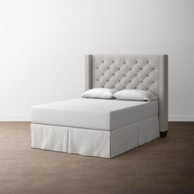 Custom Uph Beds Barcelona Cal King Bonnet Bed, Footboard Low, Storage None, Insert Type Non-tufted