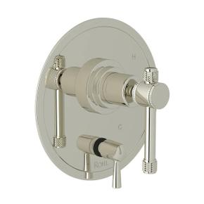Campo Pressure Balance Trim with Diverter - Polished Nickel with Industrial Metal Lever Handle