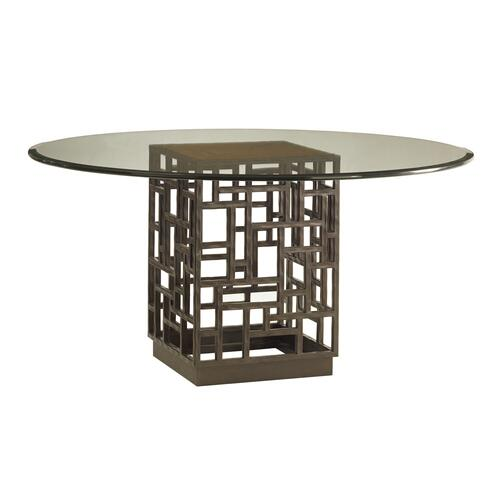 South Sea Dining Table With Glass Top 54 Inch
