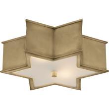View Product - Alexa Hampton Sophia 3 Light 17 inch Natural Brass Flush Mount Ceiling Light