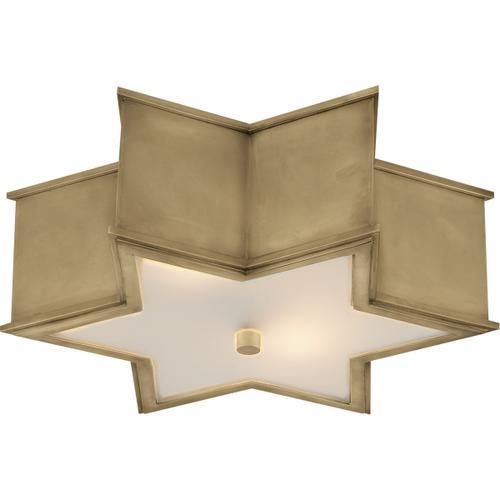 Visual Comfort - Alexa Hampton Sophia 3 Light 17 inch Natural Brass Flush Mount Ceiling Light