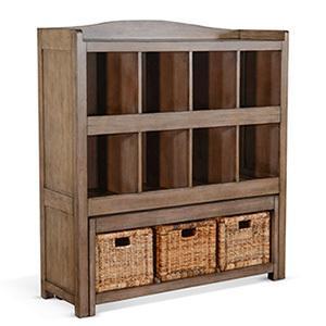 Sunny Designs - Storage Bookcase w/ Trundle Bench