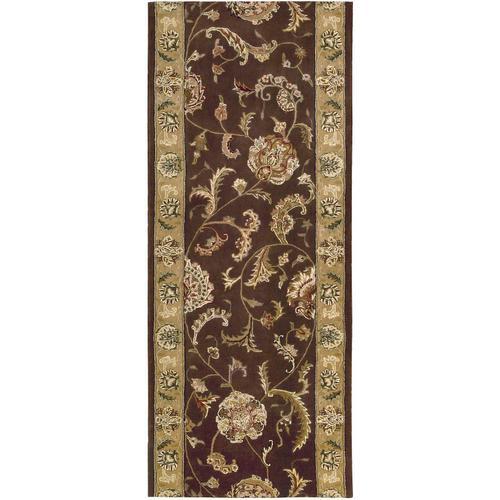 Nourison Rugs - Nourison 2000 2206 Brown Runner Broadloom Carpet