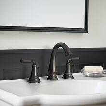 Delancey® Two-Handle Widespread Faucet - Lever Handles  American Standard - Legacy Bronze