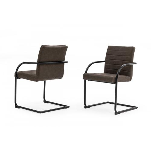 Gallery - Modrest Ivey - Modern Brown Dining Chair (Set of 2)