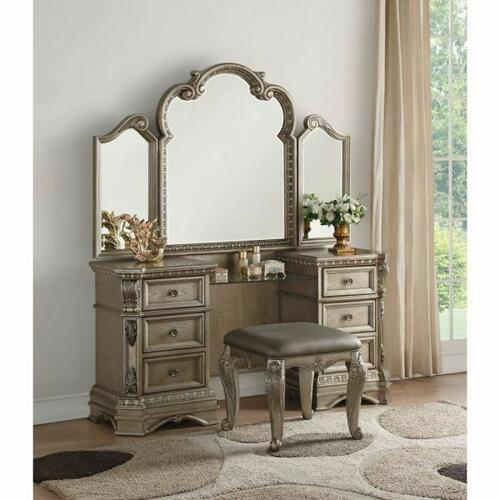 ACME Northville Vanity Desk - 26940 - Antique Silver