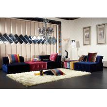 View Product - Divani Casa Dubai - Contemporary Multicolored Fabric Modular Sectional Sofa