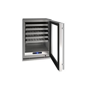 "U-Line24"" Wine Refrigerator With Stainless Frame Finish (115 V/60 Hz Volts /60 Hz Hz)"
