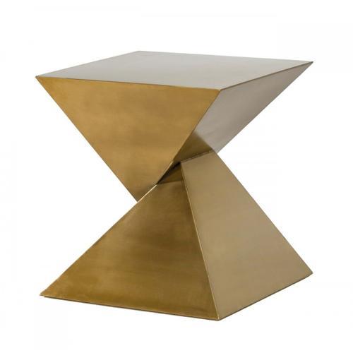 VIG Furniture - Modrest Hadler - Glam Brushed Gold Metallic End Table