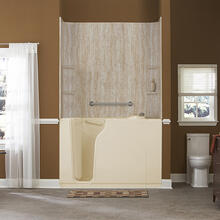 Gelcoat Premium Series 30x52-inch Walk-In Bathtub with Whirlpool Massage System  American Standard - Linen