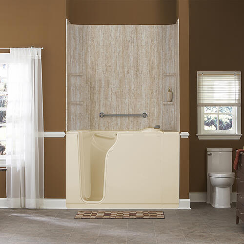 American Standard - Gelcoat Premium Series 30x52-inch Walk-In Bathtub with Whirlpool Massage System  American Standard - Linen