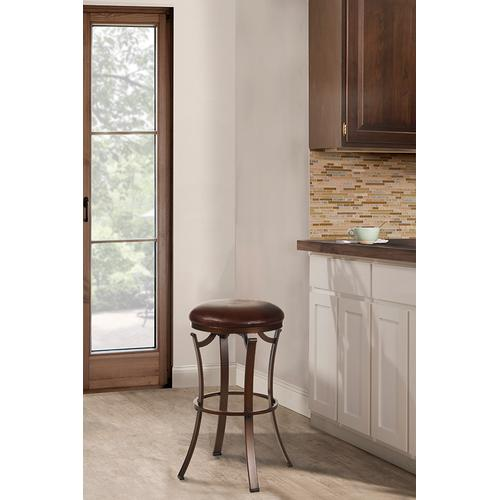 Kelford Backless Swivel Bar Stool, Bronze