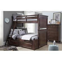 See Details - Canterbury - Warm Cherry Twin Over Full Bunk Bed