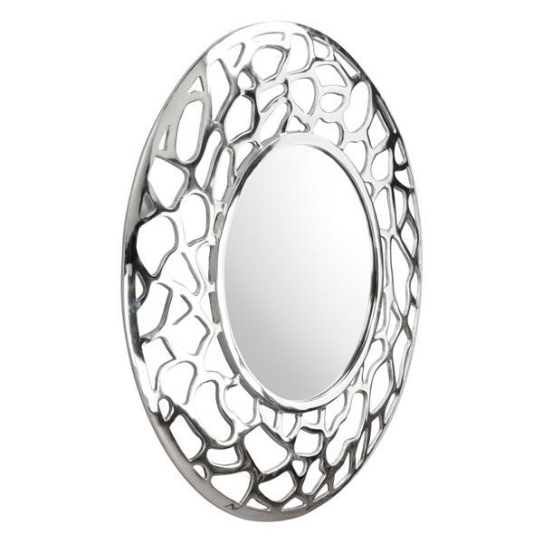 See Details - Reef Round Mirror Aluminum
