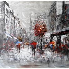 Product Image - Modrest Raining In Paris Oil Painting