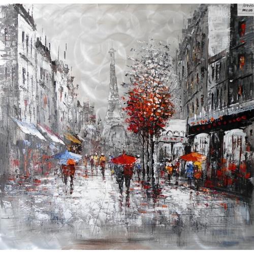 Gallery - Modrest Raining In Paris Oil Painting