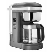 See Details - 12 Cup Drip Coffee Maker with Spiral Showerhead and Programmable Warming Plate - Charcoal Grey
