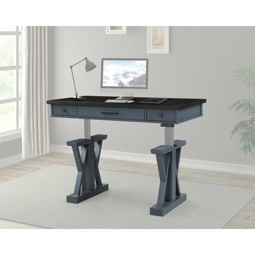 See Details - AMERICANA MODERN - DENIM 56 in. Lift Desk Top & Base Cover