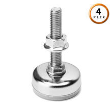 Chrome Metric Thread Metal Glide for Adjustable Bases, 4-Pack