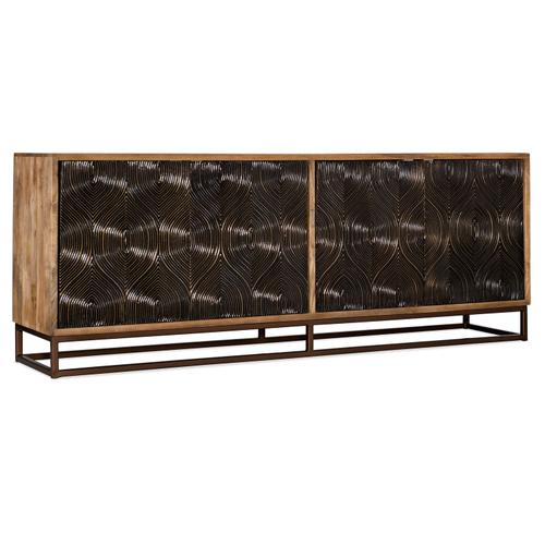 Home Entertainment Swirl Door Entertainment Console