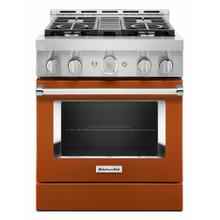 See Details - KitchenAid® 30'' Smart Commercial-Style Gas Range with 4 Burners - Scorched Orange
