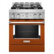 KitchenAid® 30'' Smart Commercial-Style Gas Range with 4 Burners - Scorched Orange