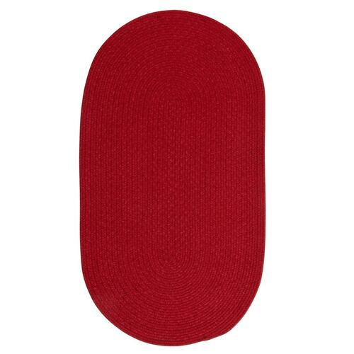 "Heathered Scarlet Red Solid - Oval - 8"" x 28"""