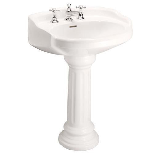 "Victoria Pedestal Lavatory - 8"" Widespread / Bisque"