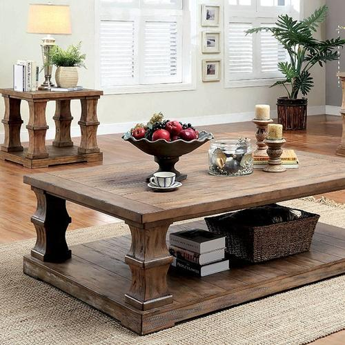 Granard Coffee Table w/ Wooden Top