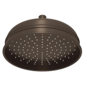 "Tuscan Brass 8"" Bordano Rain Anti-Calcium Showerhead"